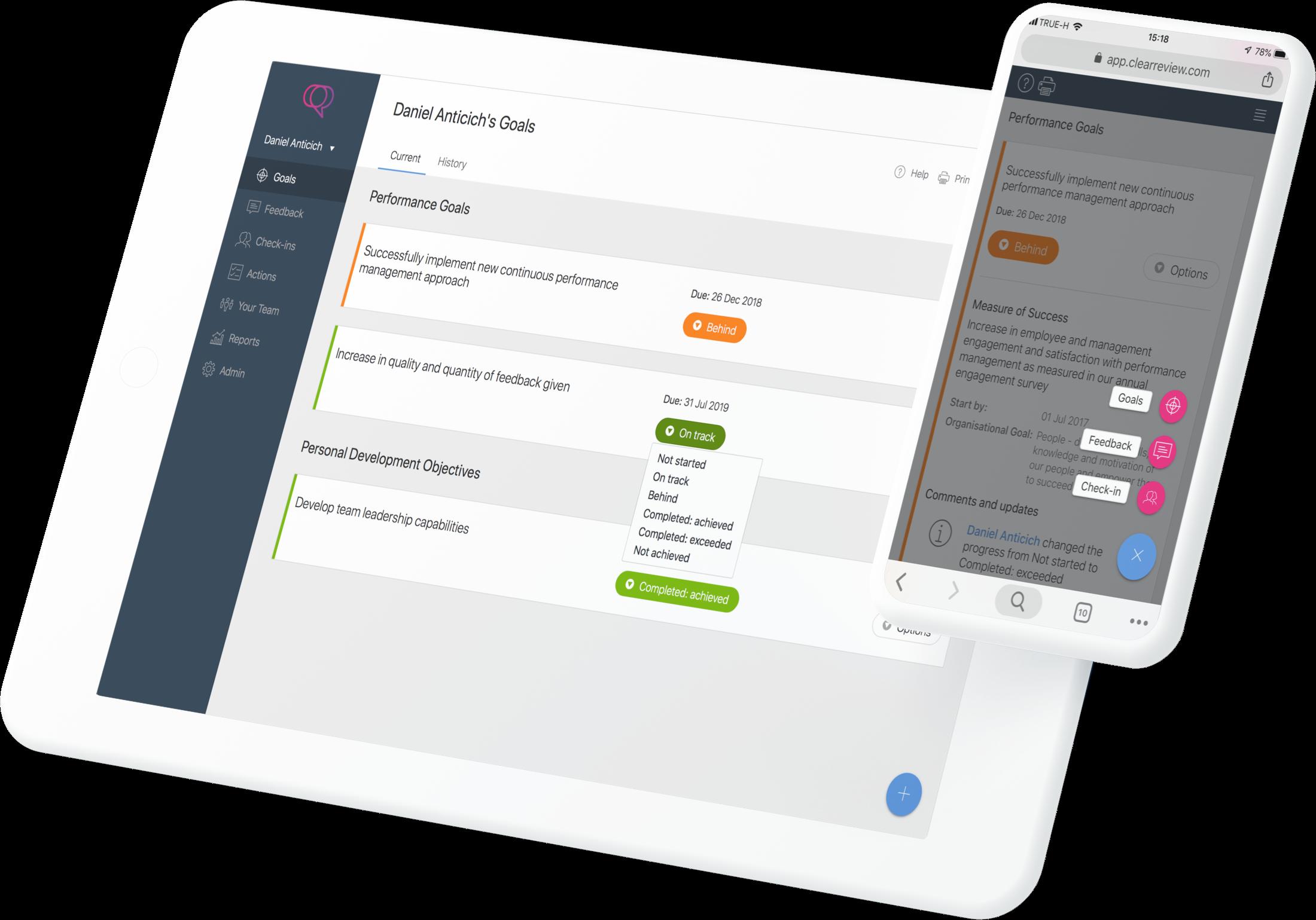 Product Agile Goals Tablet Landscape